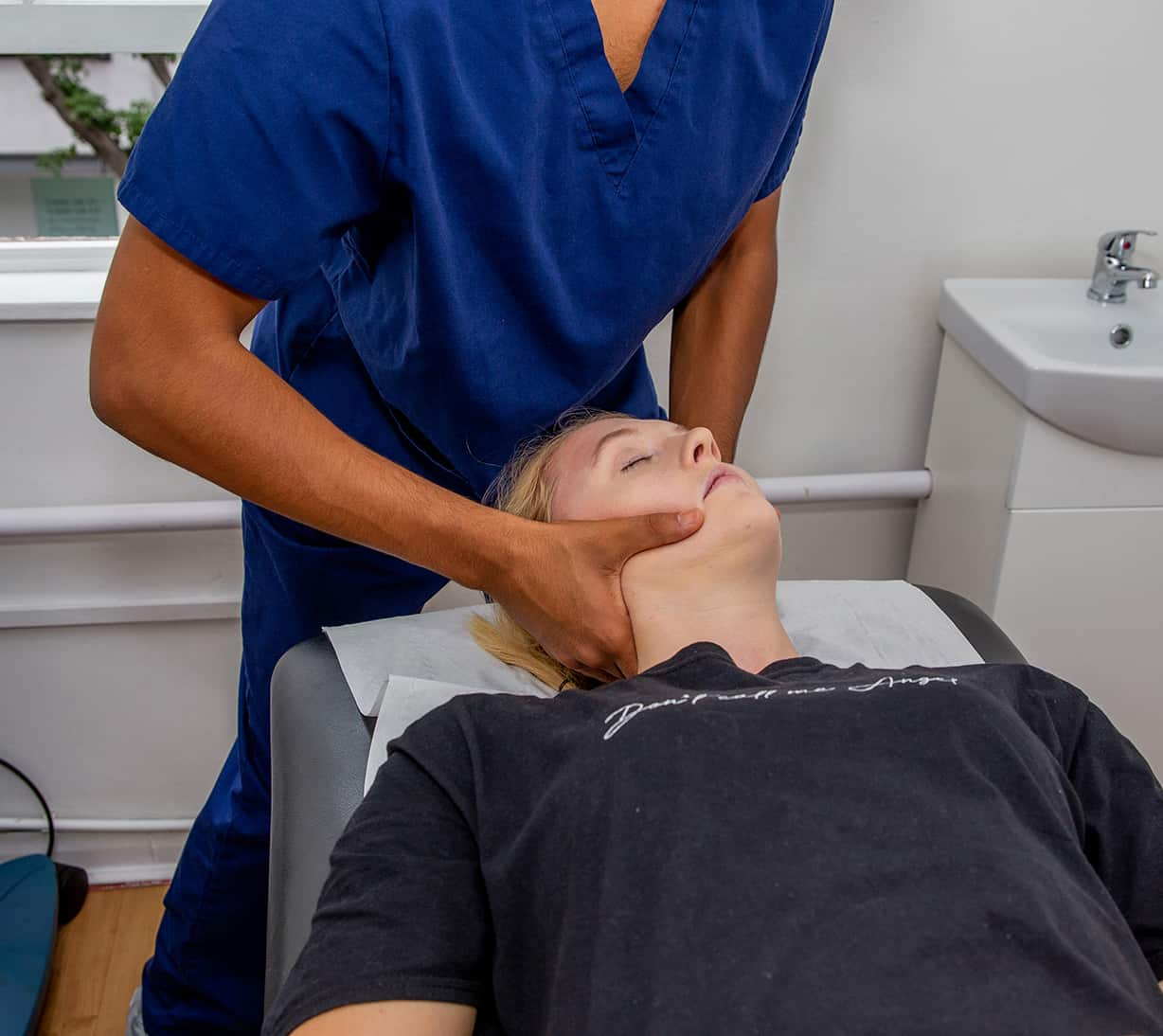 Osteopathy treating neck pain
