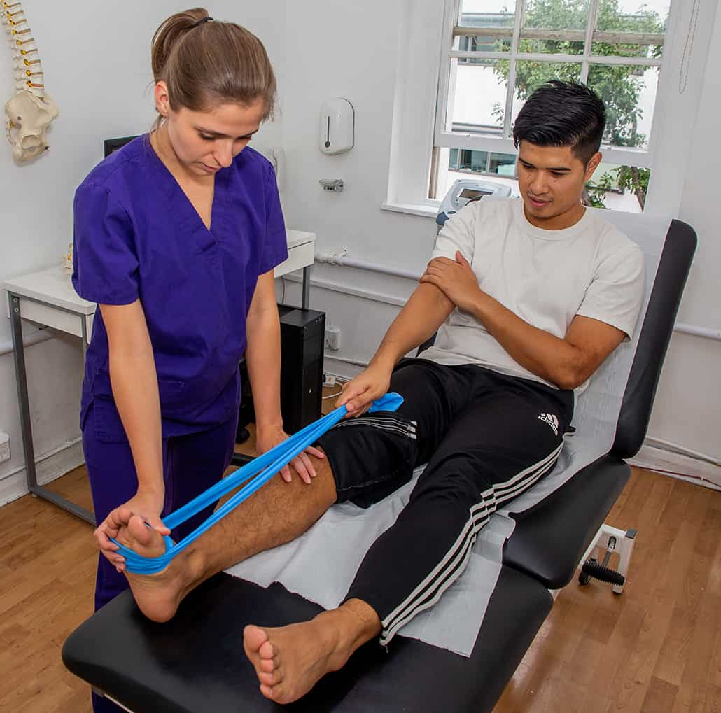 Physiotherapy Treating Ankle Pain