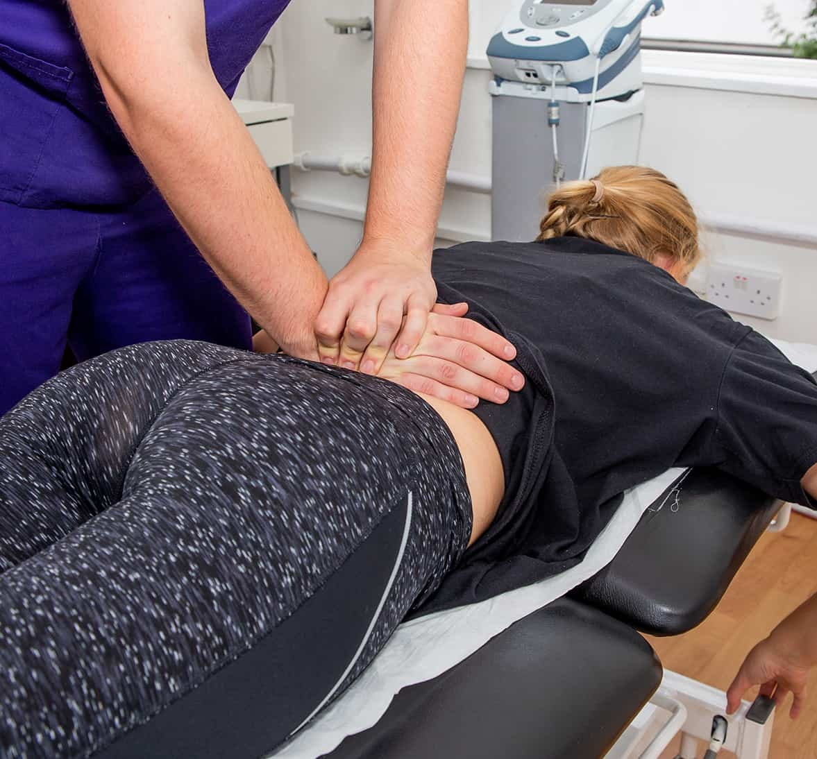 Physiotherapy Treating Lower Back Pain